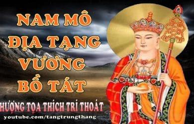 Trì niệm danh hiệu Địa Tạng Vương Bồ Tát