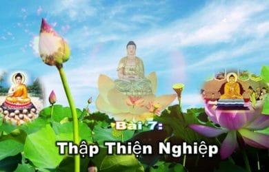 thay thich tri hue thuyet giang thap thien nghiep