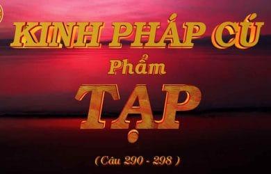kinh phap cu phap tap cau 290 298 thich phuoc tien