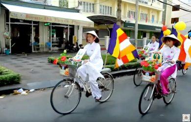 ba ria vung tau dieu hanh xe hoa don mung le phat dan vesak 2019